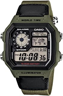 Men's AE1200WHB-3BV 10 Year Battery Watch