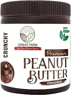 Orient Farm Peanut Butter | Chocolate Flavour | Crunchy |340GM | Made with Premium Chocolate | 100% Roasted Peanut | Vegan...