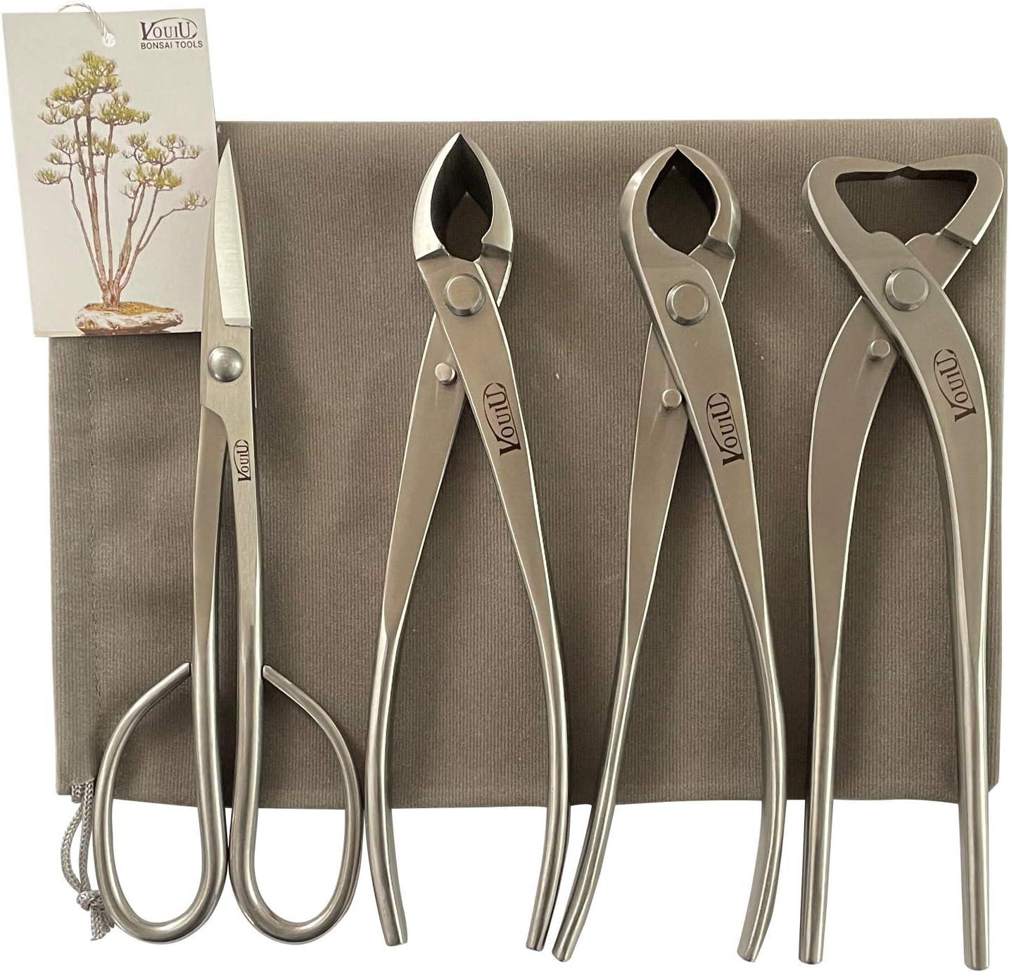 vouiu 4-Piece Bonsai Tool Set S Trunk 低価格化 Cutter 大人気 Concave Knob