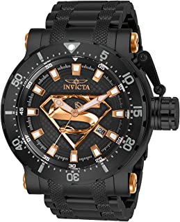 Invicta Men's 'DC Comics' Automatic Stainless Steel Watch, Color:Black (Model: 26826)
