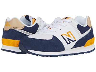 New Balance Kids 574 Split Sail (Infant/Toddler) (Natural Indigo/Chromatic Yellow) Boy
