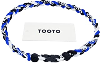 TOOTO Sport Style Tornado Titanium Necklace Three Colors Braided Rope Baseball Necklace-20 Length