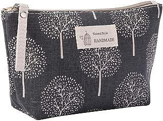 Xuprie Portable Large Capacity Print Cosmetic Bag Travel Makeup Bag Cosmetic Bags