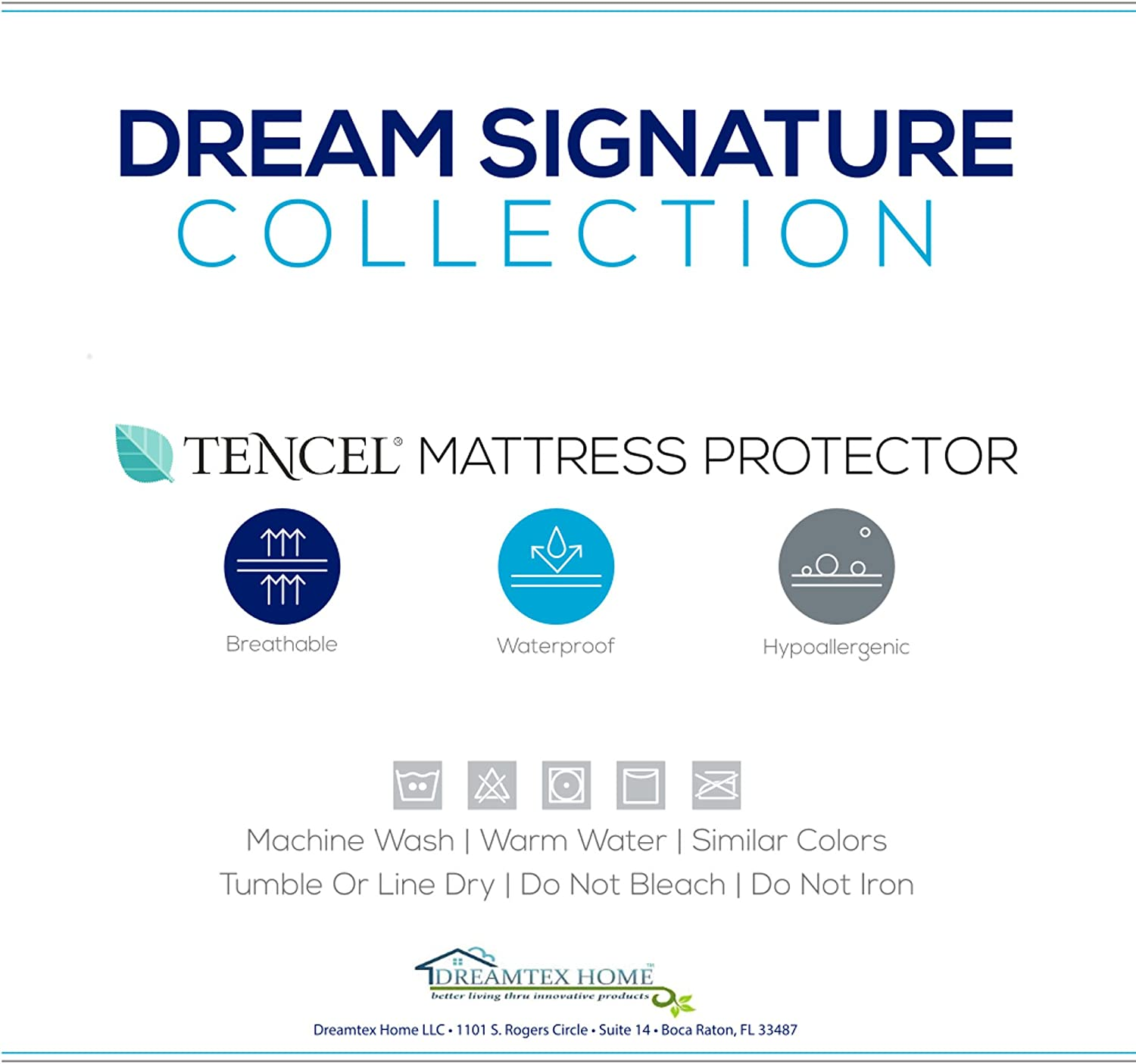 Dream Signature Collection Smooth Tencel Mattress Predector, Twin X-Large