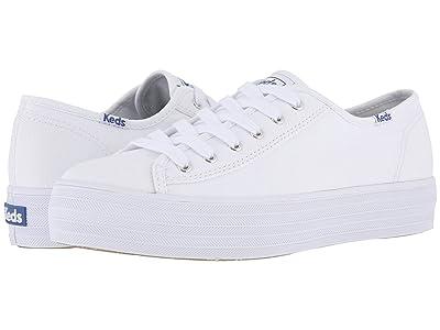 Keds Triple Kick Canvas (White) Women