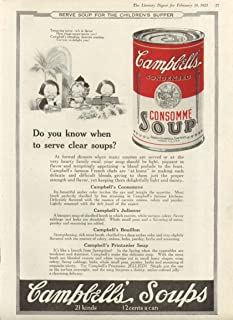 Dainties Delight Campbell's Consomme Soup ad 1923