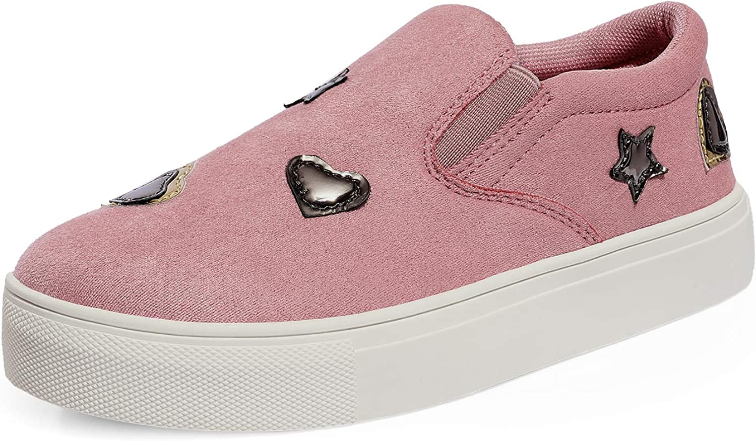 New 1 year warranty arrival DREAM PAIRS Girls Casual Sneakers Shoes Slip-on Loafer