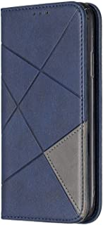 iPhone XR ケース, OMATENTI PUレザー手帳型ケース, 薄型 簡約風 人気 新品 財布 スマホケース, iPhone XR 用 Case Cover カード収納 付き, 青