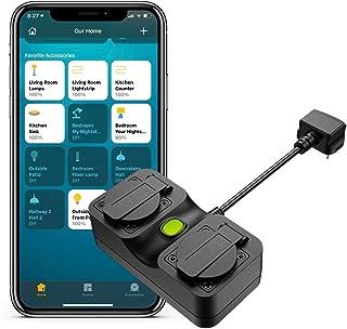 Smart Plug Compatible with HomeKit Meross IP44 Outdoor Compatible with WiFi Plug iPhone Siri, Alexa, Google Assistant Voic...