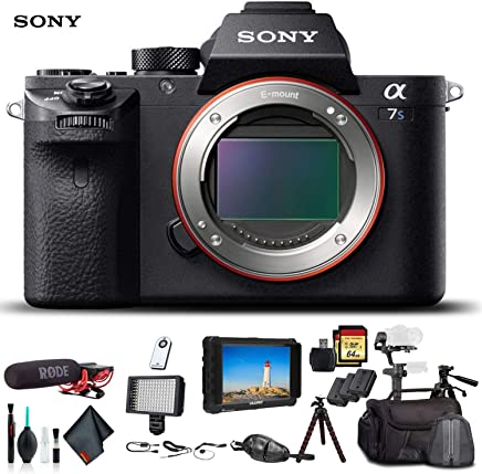 $2710 Get Sony Alpha a7S II Mirrorless Camera ILCE7SM2/B with Soft Bag, Zhiyun-Tech WEEBILL Stabilizer, 2X Extra Batteries, Rode Mic, Light, 2X 64GB Memory Cards, External Monitor, Plus Essential Accessories