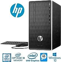 HP Pavilion Business Desktop, 8th Gen Intel i3-8100 (3.6GHz & 6MB Cache), 4GB DDR4 + 16GB Intel Optane Memory, 1TB HDD, DVD-Writer, HDMI, 802.11AC, Bluetooth 4.2, Windows 10 (Renewed)