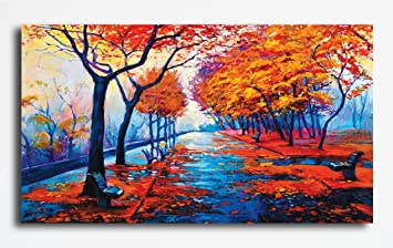 Buy Pixelartz Canvas Painting Autumn Forest Nature Canvas Art Modern Art Paintings Paintings For Home Decor Paintings For Drawing Room Wall Paintings For Bedroom Paintings For