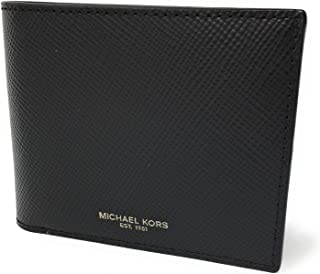 Michael Kors Men's Harrison Billfold with Passcase Wallet (Black)