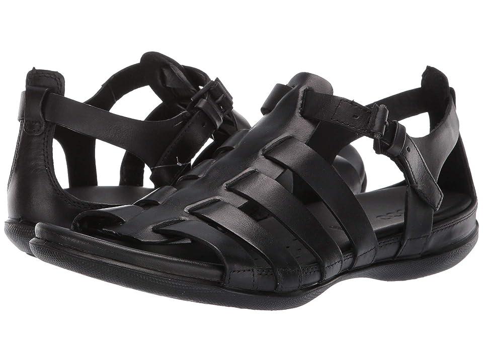UPC 809704938738 product image for ECCO Flash Strappy Sandal (Black Cow Nubuck) Women's Sandals | upcitemdb.com