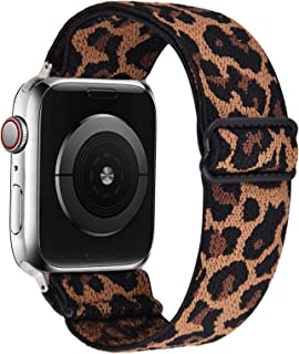 VISOOM Stretchy Band Compatible with Apple Watch Series 6 38mm Leopard band - Apple Watch Strap 38mm/40mm for iWatch Serie...