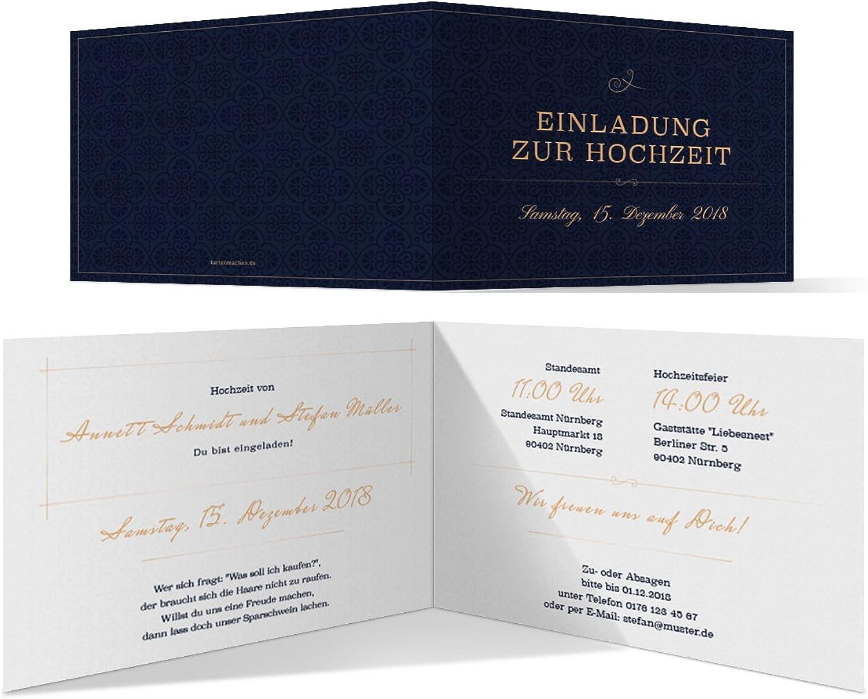40 x x x Hochzeitseinladungen Einladungskarten Hochzeit Einladung individuell - Liebesbotschaft B07F7ZBZGF  | Exquisite Verarbeitung  df14e9