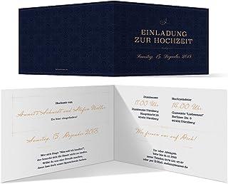 40 x Hochzeitseinladungen Einladungskarten Hochzeit Einladung individuell - Liebesbotschaft B07F7ZBZGF  Für Ihre Wahl
