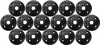 Industrial Black Iron Floor Flange Pipe Fittings 1/2'' (Pack of 16)