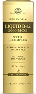 Solgar Sublingual Liquid B-12 2000 mcg with B-Complex, 2 oz - Supports Production of Energy - Nervous System Support - Pro...