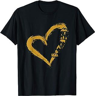 Cute Heart Shape Love Camping Camp & Hike Travellers Gift T-Shirt