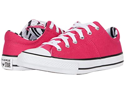 Converse Kids Chuck Taylor(r) All Star(r) Madison Zebra Ox (Little Kid/Big Kid) (Cerise Pink/Black/White) Girl