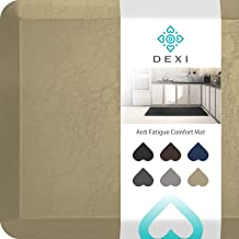 """DEXI Kitchen Mat Cushioned Anti Fatigue Comfort Floor Runner Rug for Standing Desk Office,3/4 Inch Thick Cushion 17""""x24"""" B..."""