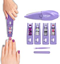 Blinger Ultimate Nail Wand Collection, Purple - Glam Your Nails in No Mess, 3 Step Process, No Drying, No Waiting – Nail A...