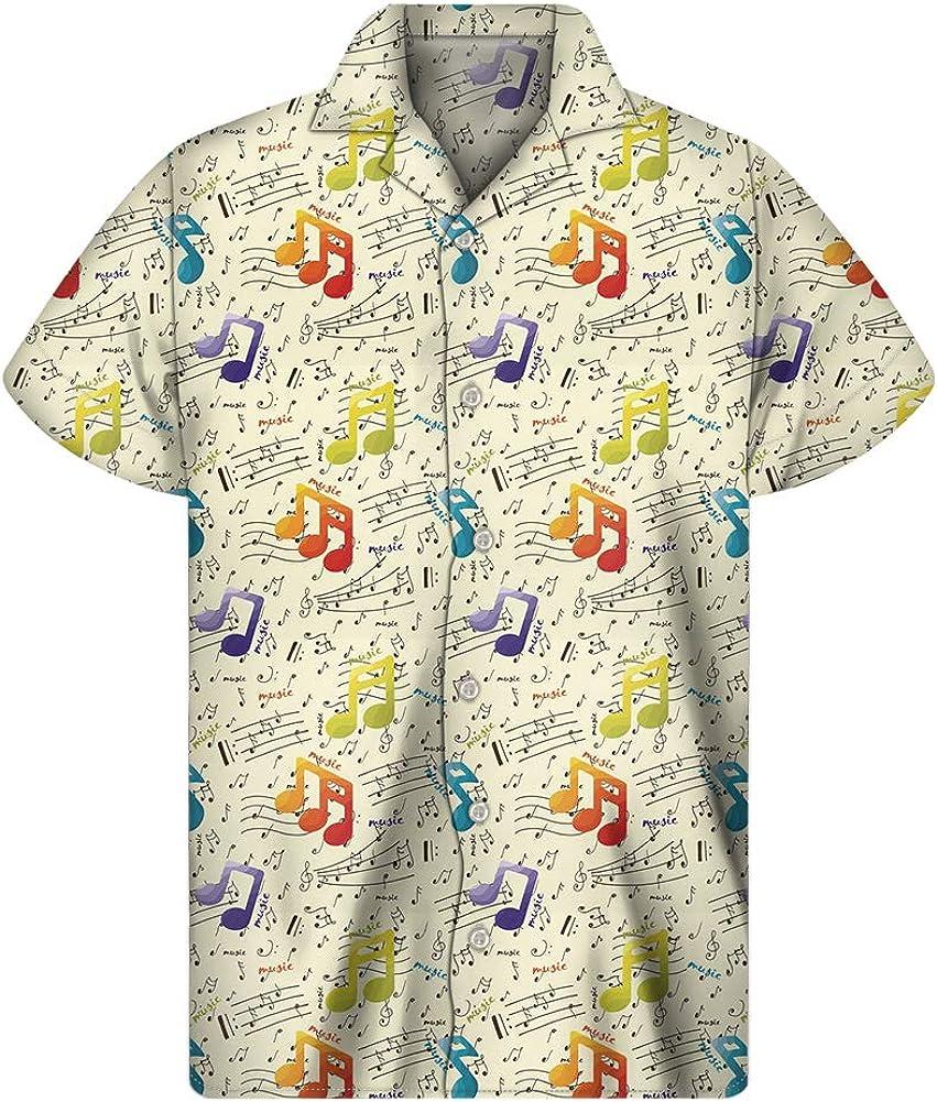doginthehole Men's Hawaiian Floral Tropical Shirt Short Sleeve Casual Island Wear Shirts Beachwear