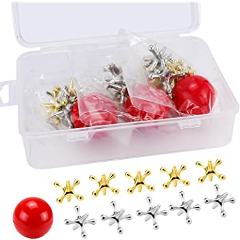 Vintage Metal Jacks Game Set Retro Toys Plus 1 Collectable Bouncy Ball Jax Game /& 2 Balls Classic Games Great Party Favors or Pinata Filler Toy in Bulk 950-1B Pack of 1 Unist