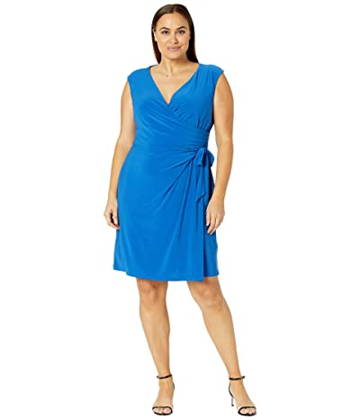 LAUREN Ralph Lauren Plus Size Saida Cap Sleeve Day Dress Women