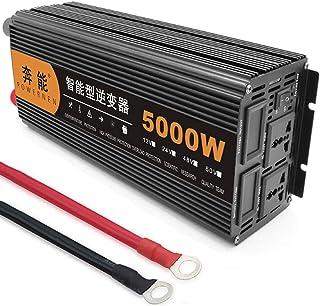 5000W Inverter Pure Sine Wave Power Inverter for Car DC 12V 24V to 220V AC Car Converter Plus 2 AC Outlets,Voltage Convert...