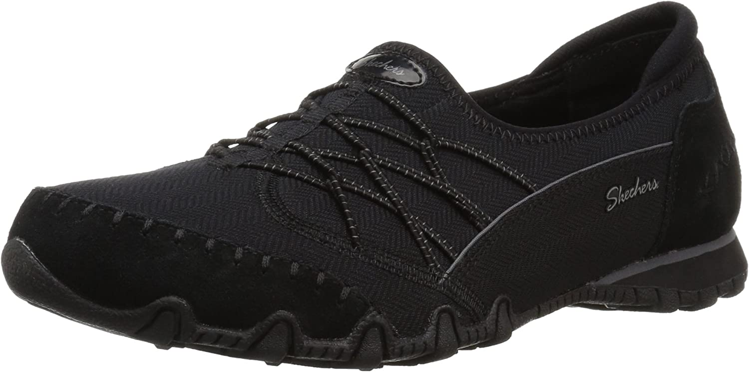 Skechers Womens Bikers - Double Digits - Double Bungee Closure Slip-on - Relaxed Fit Sneaker