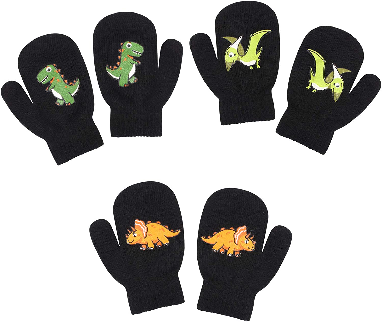 Toddler Knitted Mittens Autumn Baby Boys Girls Gloves Winter Christmas Kids Glove 1-4 Years