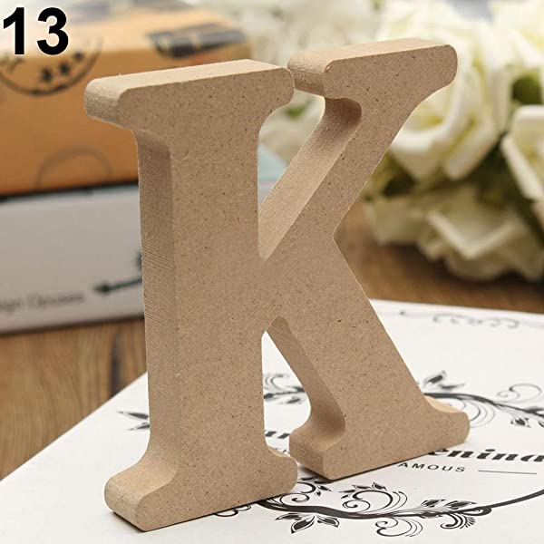 Lightclub Freestanding A Z Wood Wooden Letters Alphabet Hanging Wedding Home Party Decor For Wedding For Children Baby Name Girls Bedroom Wedding Brithday Party Home Decor Letters K