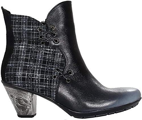 Maciejka - Stiefel de Piel para damen schwarz grau