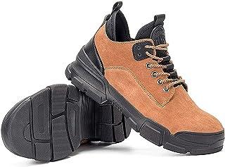 HEWXWX Chaussures de sécurité pour Hommes Wellies,Breathable Outdoor Sneakers Puncture Proof Boots Comfortable Industrial,...