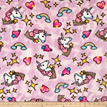 Newcastle Fabrics Whisper Plush Fleece Unicorn Cool Pink Fabric By The Yard
