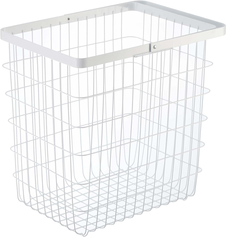 YAMAZAKI home Laundry Basket - Large Storage Hamper, White