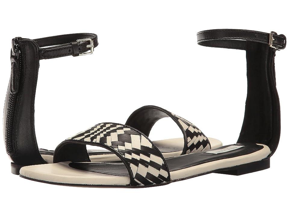 Cole Haan Genevieve Weave Sandal (Black Leather/Black/White Genevieve Weave) Women