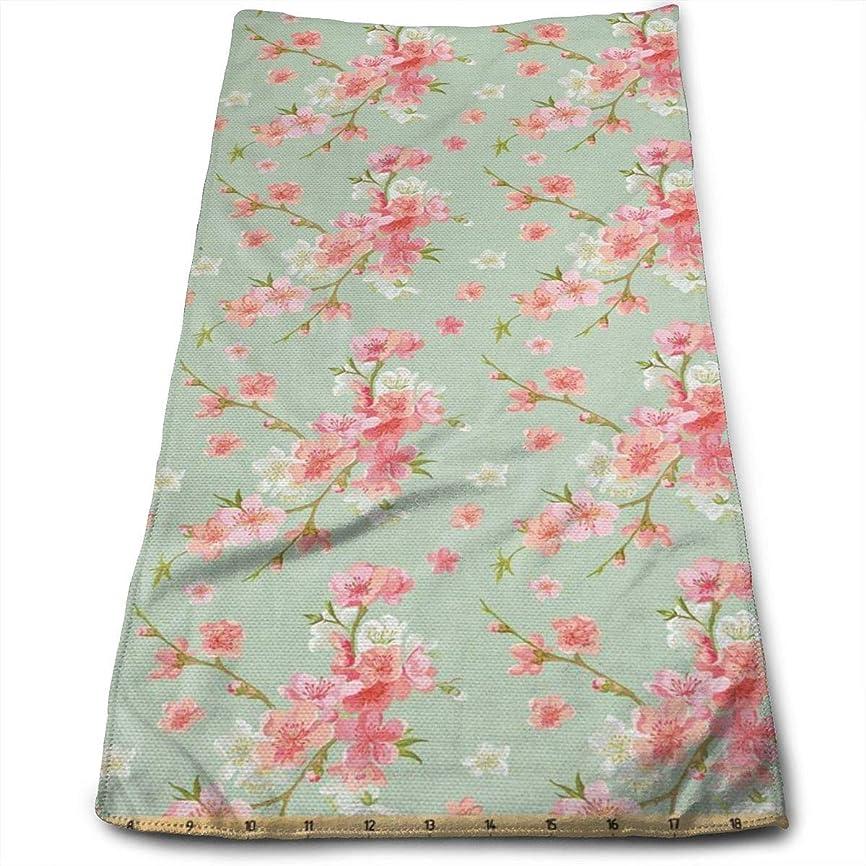 ドアミラーベーコンシャイレトロな春の花の花キッチンタオル-皿布-洗濯機で洗えるコットンキッチン布、乾燥、クリーニング、調理、ベーキング用のタオル、茶タオル30x70 cm