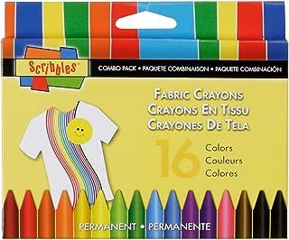 I Love para Crear Garabatos Tela Crayons 16/Pkg-Primary y Neon