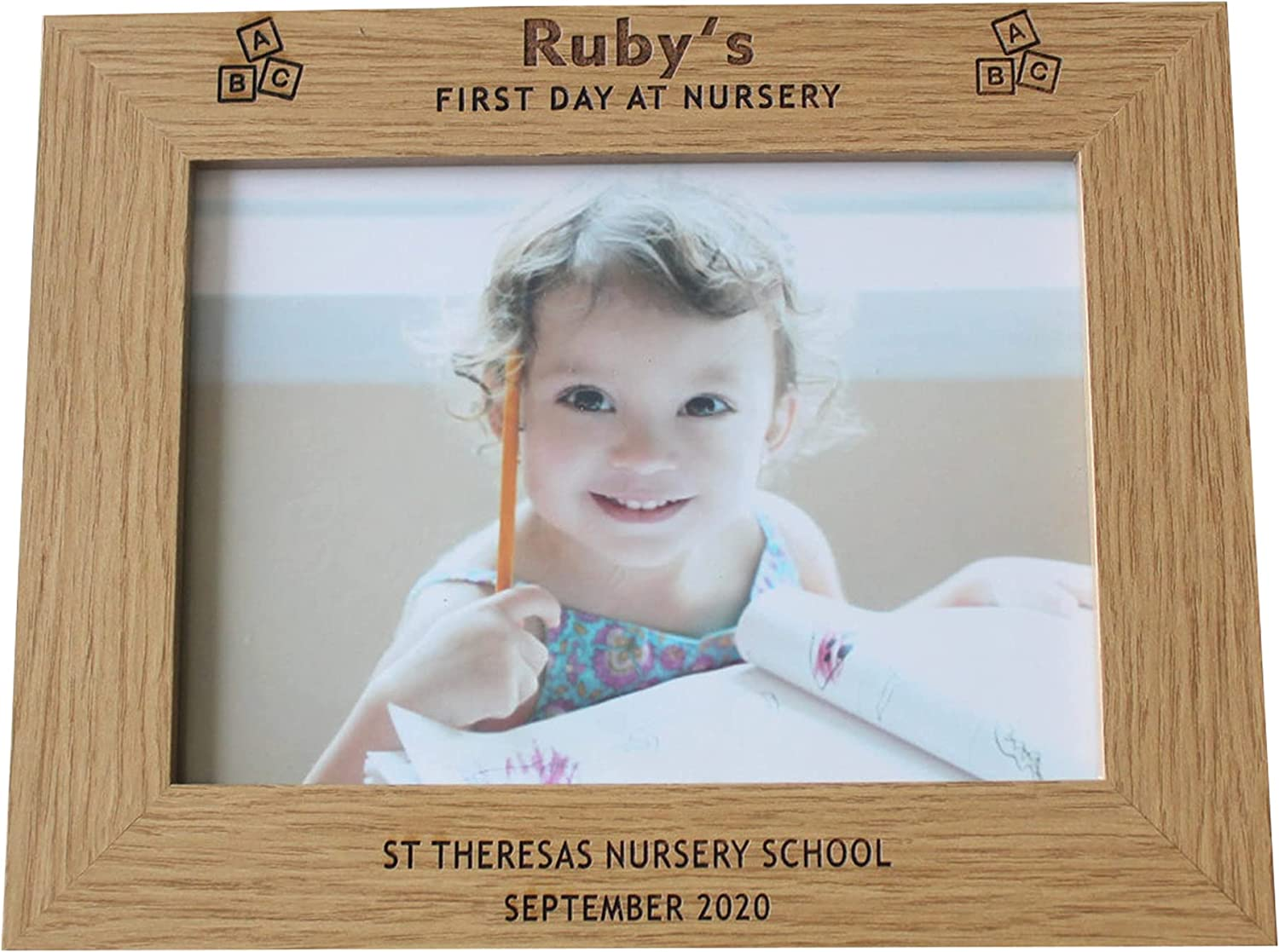 Max 81% OFF Personalised Prined Photo Frame Childs High order Day at Nursery First