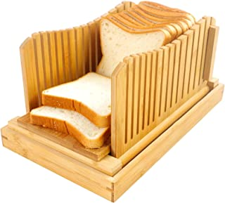 Bambou Bois Trancheuse À Pain pour Pain Maison Planche À Découper Toast Machine À Pain D'épaisseur Réglable pour Sandwich ...