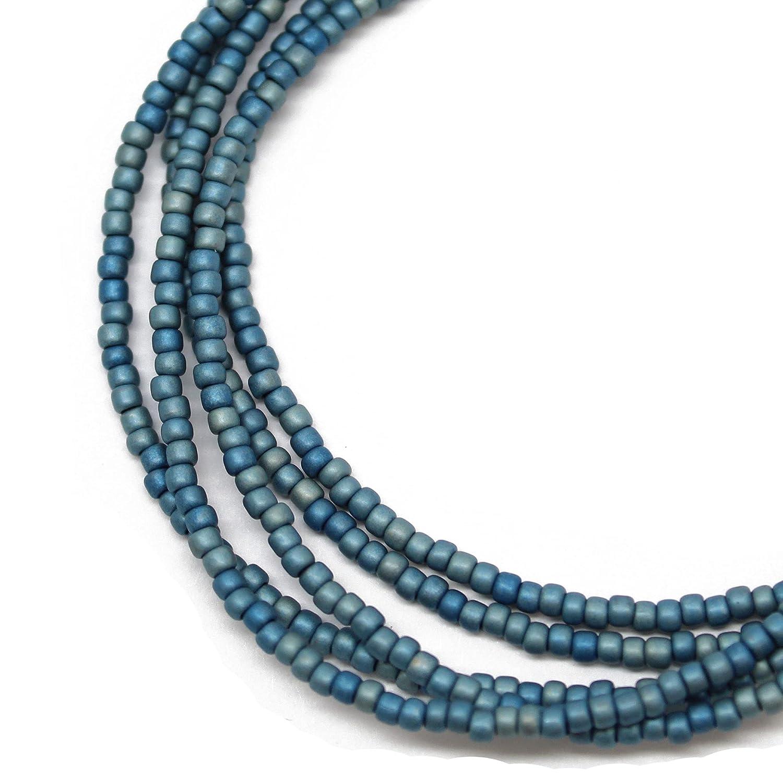 Blue Seed Max 90% OFF List price Bead Necklace Medium Beaded Single Neckla Strand
