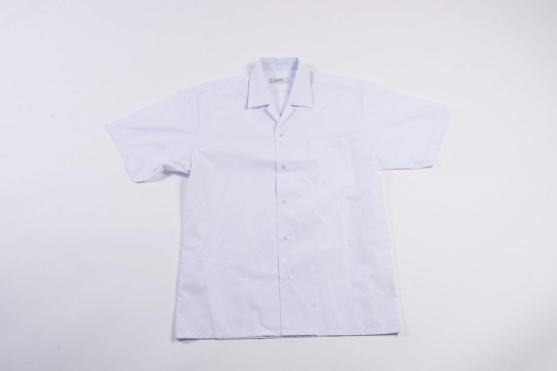 日本製男子半袖開襟シャツ片ポケット(左胸ポケット) 120A?130A?140A小学生用 ノンアイロン 日清紡