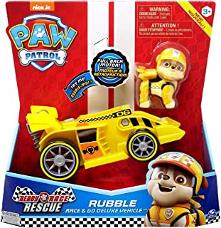 Spin Master New Paw Patrol Ready Race Rescue - Race & Go Deluxe Rubble Vehicle & Figure