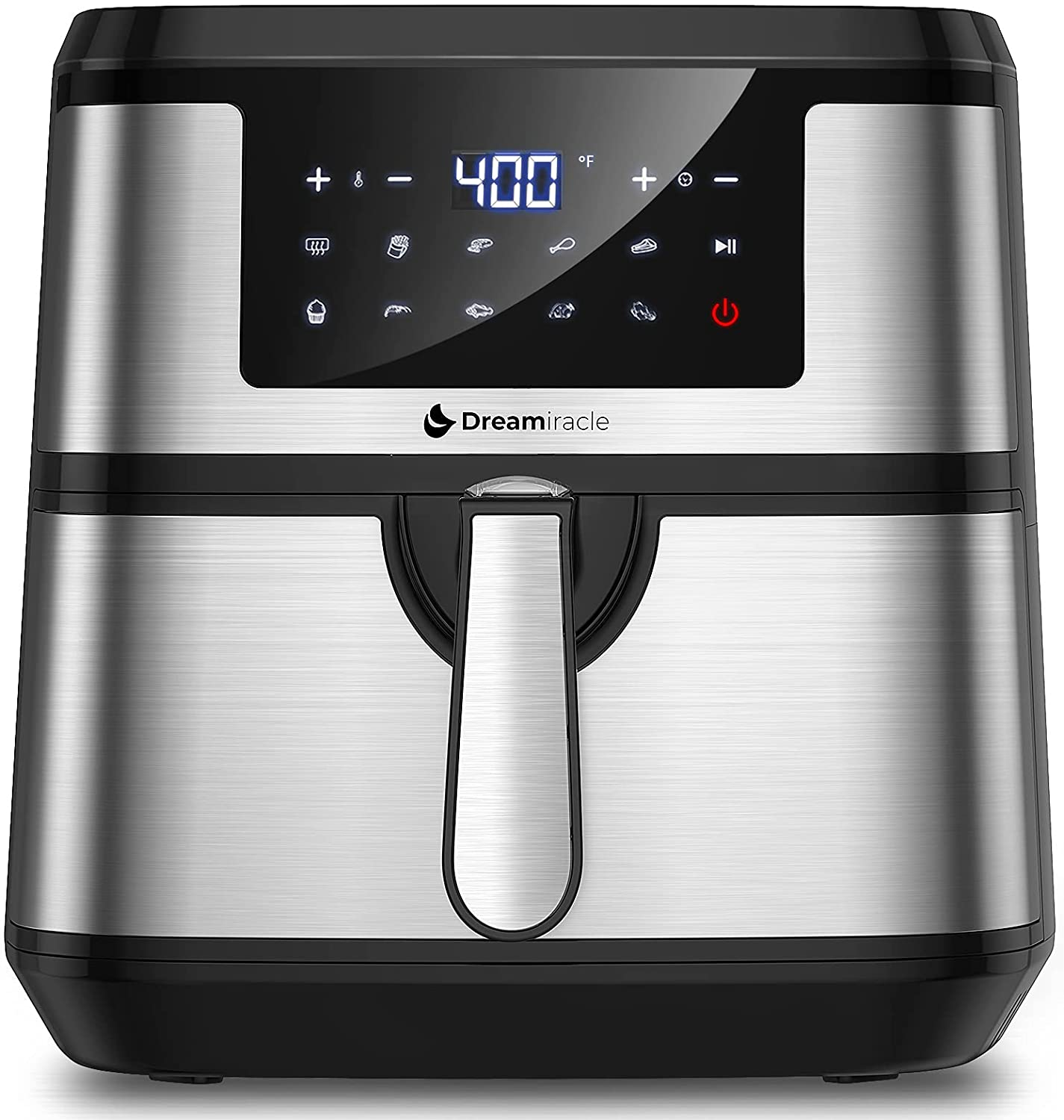 Air Fryer XL 8Qt, Dreamiracle Digital Airfryer 8 quart, 1750W Smart Air Fryer with 10 Presets One Touch LED Screen, Nonstick Detachable Basket, Preheat, Auto Shut Off, Rapid Frying