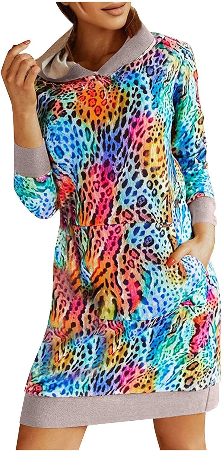 Changeshopping Long Sleeve Tops for Women,Autumn Winter Round Neck Long Sleeve Print T-Shirts Blouse Tops