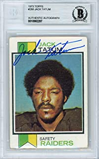 Jack Tatum Signed Auto 1973 Topps Rookie Card #288 Oakland Raiders - Beckett Authentic
