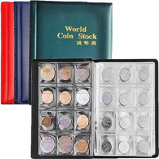 4PCS Custodia per Album di Monete,Biluer Moneta Banconote Collezione Raccoglitore per Collezione di Monete con 10 Buste pe...